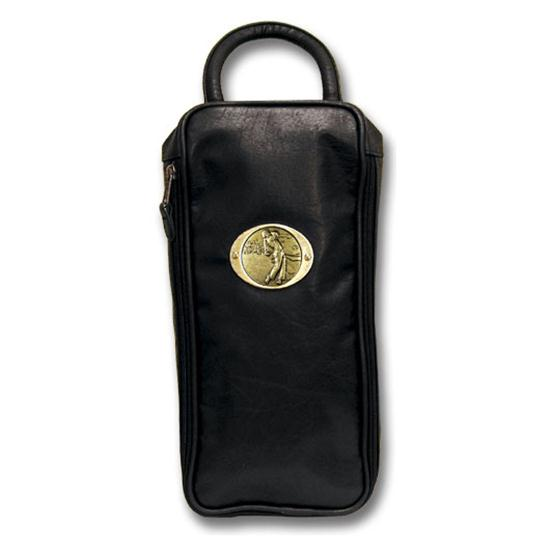 Logo Golf Leatherette Shoe Bag