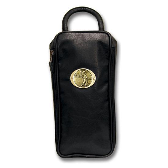 Logo Golf Leatherette Shoe Bag