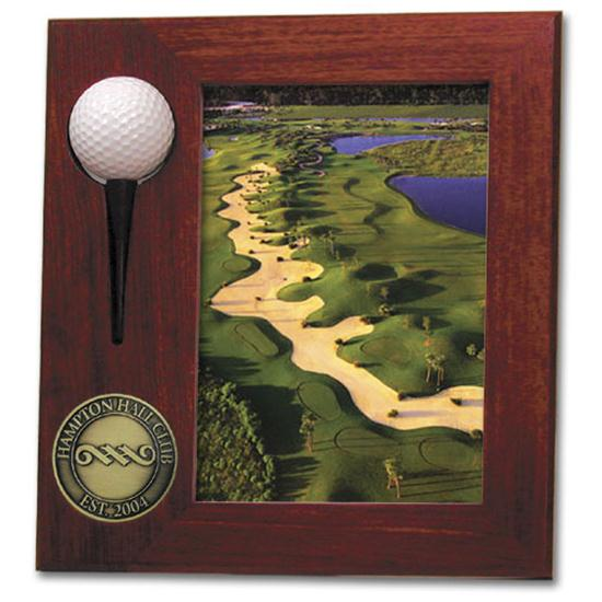 Logo Golf Rosewood Hole In One Picture Frame