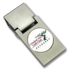Logo Golf Custom Logo Royal Fold Money Clip w/ Ball Marker