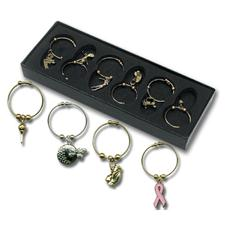 Logo Golf Wine Charms