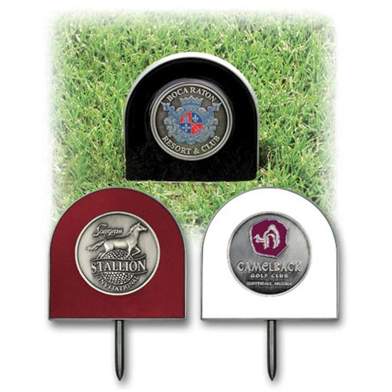 Logo Golf Tee Markers w/ Medallion