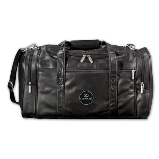 Logo Golf Top Grain Leather Duffel Bag
