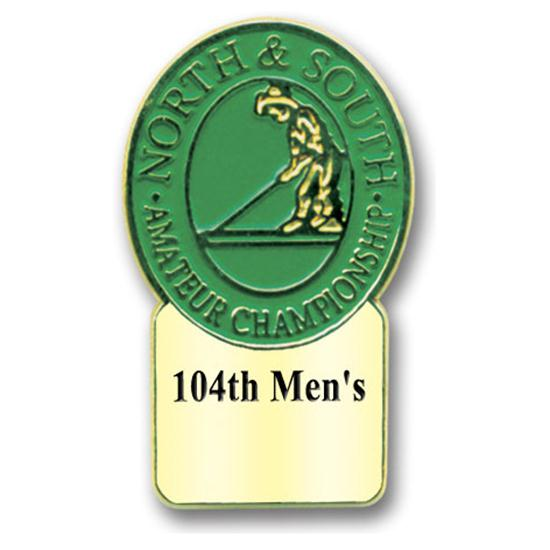 Logo Golf Tournament Badge w/ Clutch Back