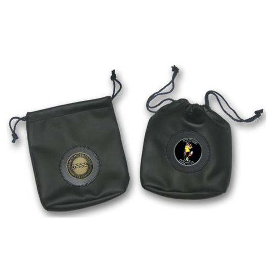 Logo Golf Vinyl Pouch w/ Medallion