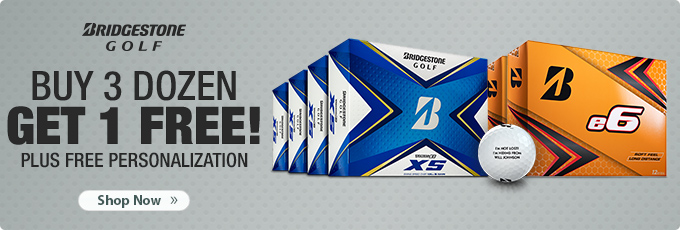 Buy 3 Get 1 Free on Bridgestone TOUR B and e6 Series Golf Balls