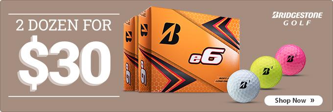 Get 2 Dozen Bridgestone e6 Series Golf Balls for $30