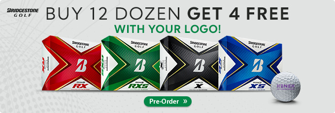 Available for Pre-Order! Bridgestone TOUR B Buy 3 Dozen Get 1 Free with Free Text Personalization!