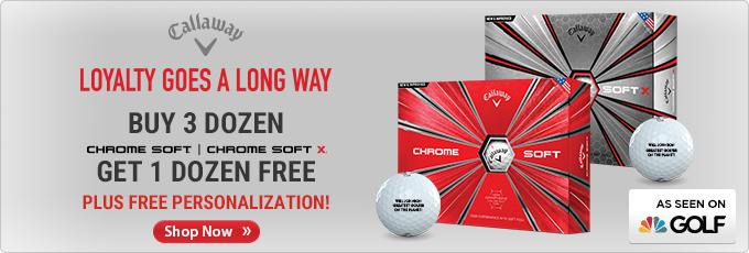 Callaway Chrome Soft Golf Balls - Buy 3 Dz Get 1 Dz Free