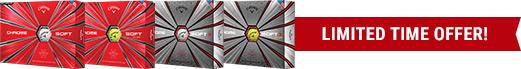 Buy 3 Dozen Get 1 Dozen Free on Callaway Chrome Soft Golf Balls