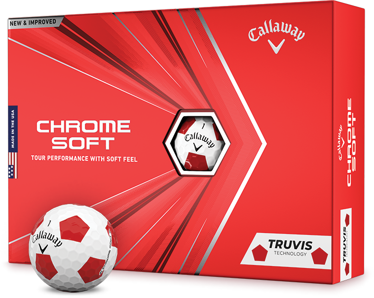 Chrome Soft Truvis White and Red