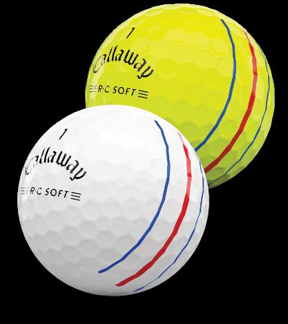 Close up of ERC Golf Balls