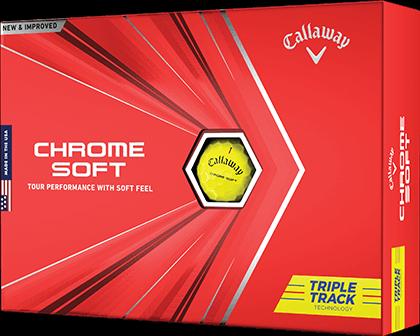 Chrome Soft Triple Track Yellow Golf Balls