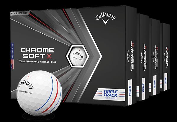 Chrome Soft X White Triple Track