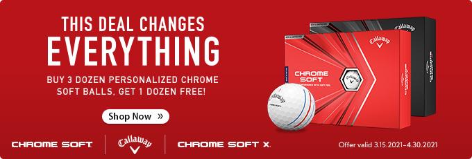 Callaway Chrome Soft and Chrome Soft X - Buy 3 Dozen Get 1 Dozen Free