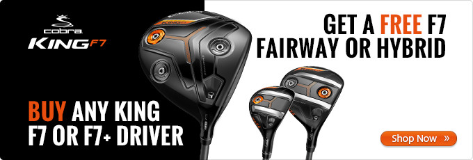 Free Cobra F7 Fairway or Hybrid with F7 Driver Purchase