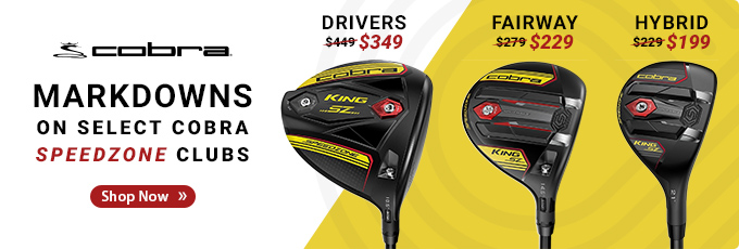 Markdowns on Select Cobra Speedzone Clubs