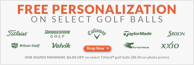 Free Personalization on Select Golf Balls