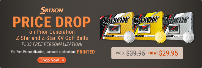 Price Drop on Prior Generation Srixon Z-Star Golf Balls
