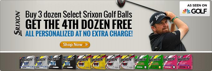 Buy 3 Dozen Select Srixon Golf Balls Get a 4th Dozen Free Plus Free Personalization