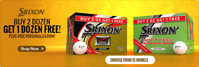 Buy 2 Dozen Get 1 Dozen Free on Srixon Golf Balls