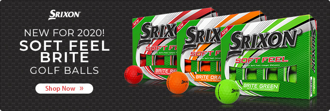 New for 2020 Srixon Soft Feel Brite Golf Balls