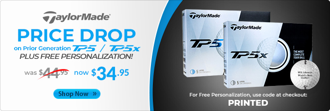 Price Drop on Prior Generation TaylorMade TP5 and TP5x Golf Balls
