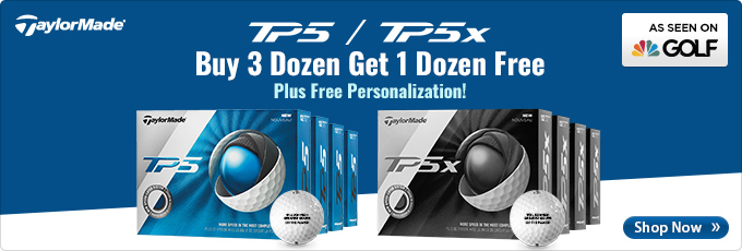 TaylorMade TP5 and TP5x Golf Balls - Buy 3 Dz Get 1 Dz Free
