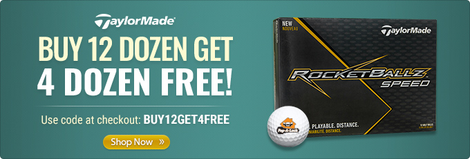 TaylorMade Rocketballz Speed Golf Balls - Buy 12 Dz Get 4 Dz Free