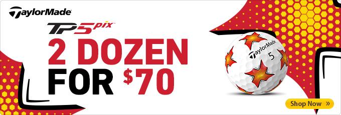 TaylorMade TP5 Pix Golf Balls - Get 2 Dozen for $70!