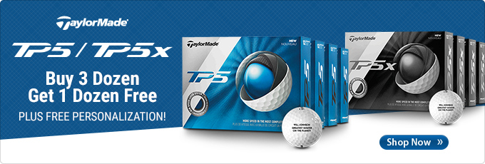 TaylorMade TP5 and TP5x | Buy 3 dozen, get 1 dozen free. Plus free personalization