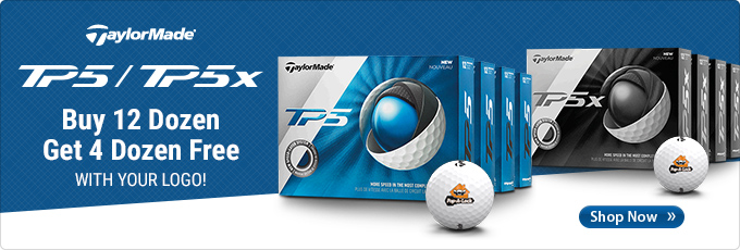 TaylorMade TP5 and TP5x | Buy 12 Custom Logo dozen, get 4 dozen free.