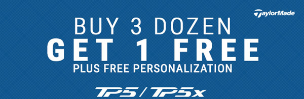 TaylorMade TP5 / TP5x | Buy 3 Dozen Get 1 Free PLUS Free Personalization