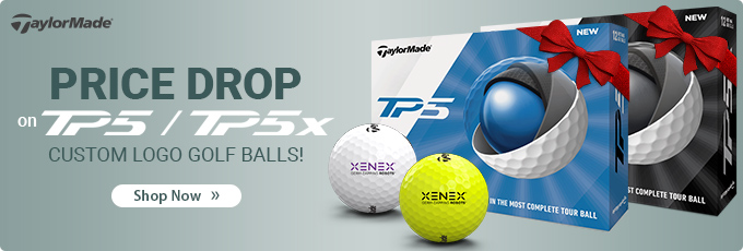 TaylorMade Price Drop on TP5 and TP5x Custom Logo Golf Balls.