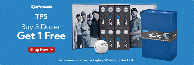 TaylorMade TP5 Buy 3 Dozen Get 1 Free in Players Pack Commemorative Packaging!