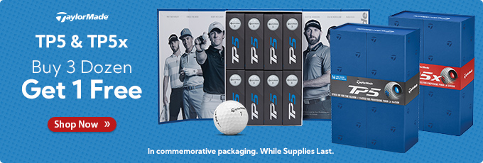 TaylorMade TP5 and TP5x Buy 3 Dozen Get 1 Free in Players Pack Commemorative Packaging!