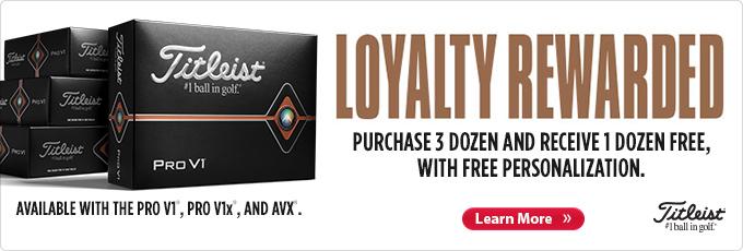 Titleist Loyalty Rewarded | Buy 3 Get 1 Free