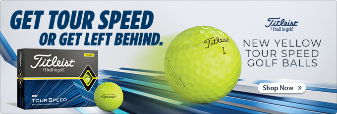 Available Now! Titleist Tour Speed Yellow Golf Balls
