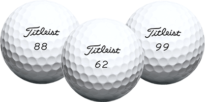 Titleist Golf Balls with Double Digit Numbers
