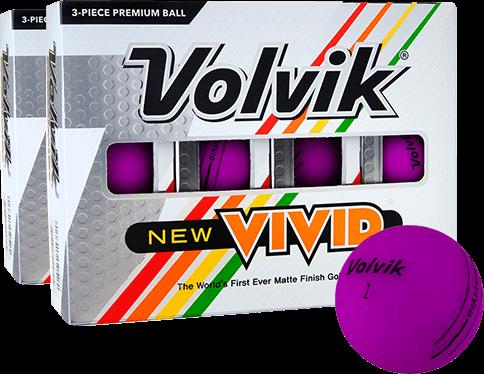 Volvik Vivid Matte Purple Golf Balls