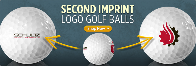 Dual Imprint Custom Logo Golf Balls