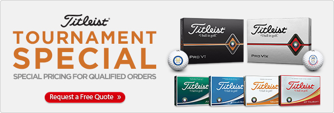 Titleist Tournament Special - Request a Free Quote