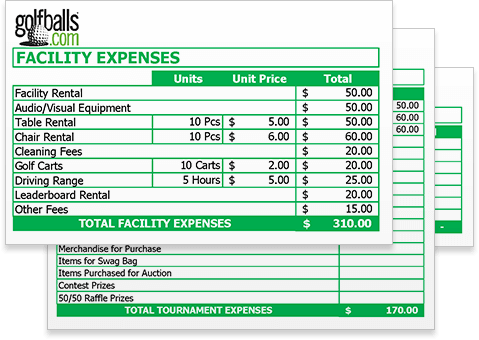 Golf Tournament Budget Template - Free Excel Sheet Download