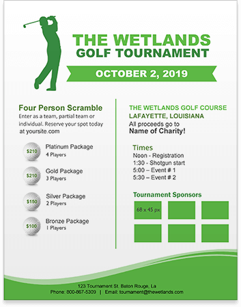 Free Golf Tournament Flyer Template Download | Golf