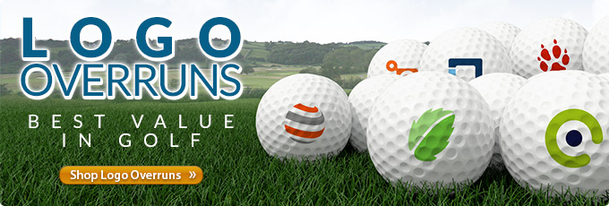 Logo Overrun Golf Balls - Best Value in Golf