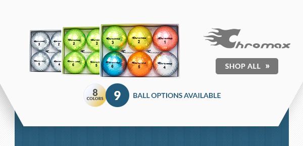Free Personalization on Chromax Golf Balls