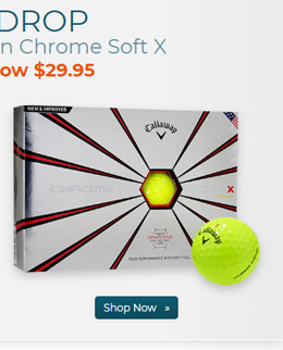 Callaway Golf Chrome Soft X Yellow Golf Balls