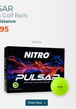 Nitro Pulsar Matte Finish Golf Balls