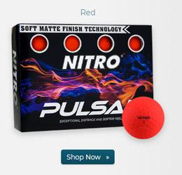 Nitro Pulsar Matte Finish Red Golf Balls