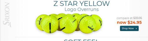 Srixon Z Star Yellow Logo Overrun Golf Balls